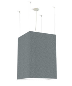sound absorbing light fixture