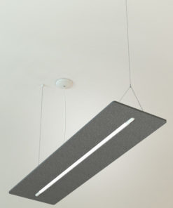 Acoustic Sound Absorption Light Fixture