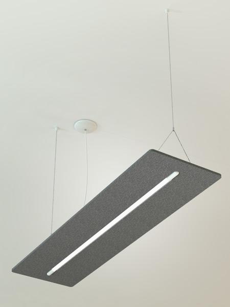 Acoustic Sound Absorption Light Fixture